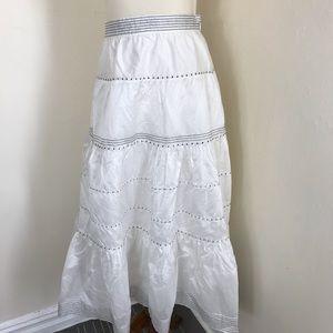 Ulla Johnson tiered silk blend midi skirt